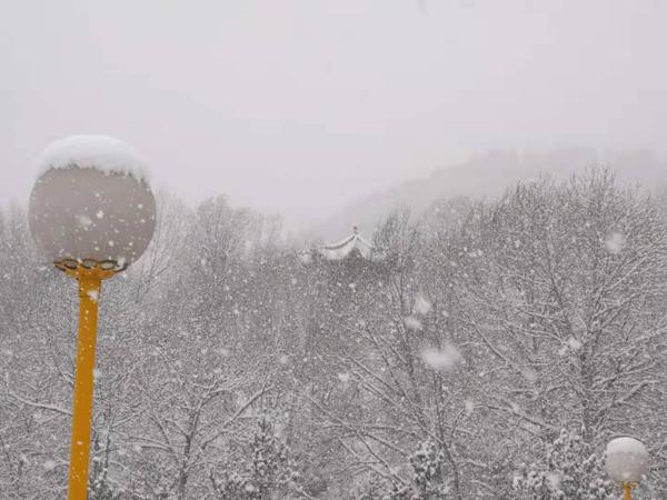 雪中五台山