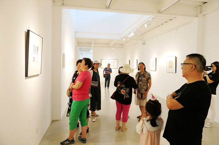 孙景年复笔书写作品展北京798艺术区翰·艺术中心开展