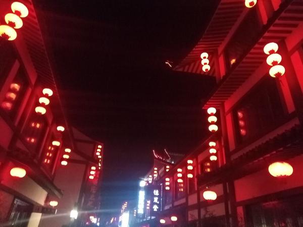 灯火辉煌夜——燕潮大桥与董子巷