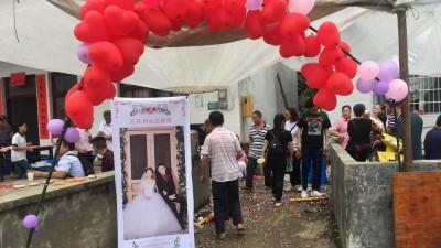 宜宾长宁县灾区的一场特殊婚礼