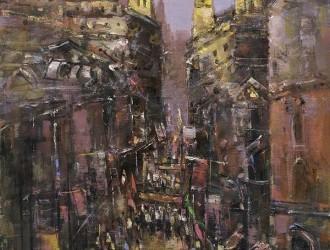 在外滩看油画家笔下的上海老建筑,久事美术馆展建筑风景油画
