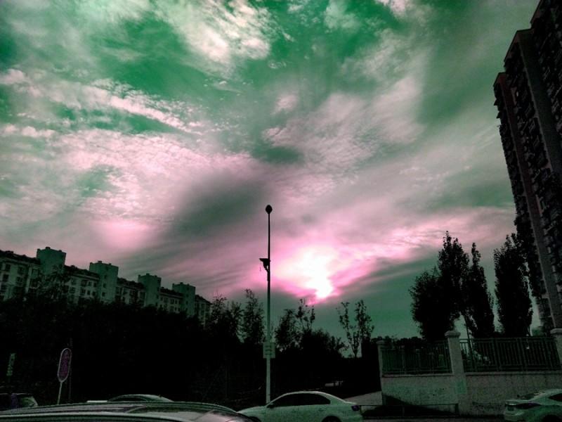 京南南海子公园的黄昏时刻 摄影:笑琰(靳新国)