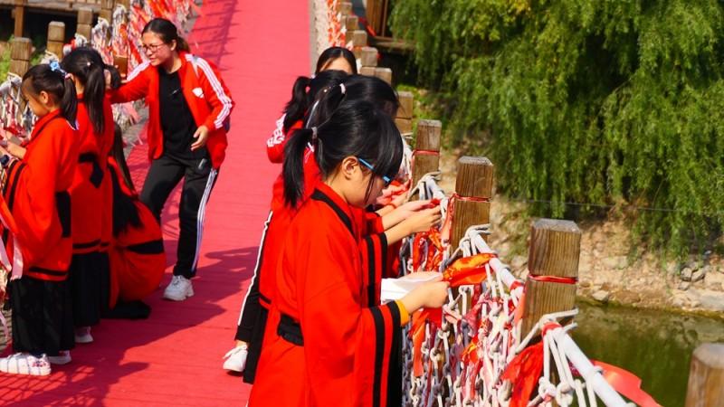 中联润智骐航红黑大战组织润骐国学研修体验营,献礼祖国70华诞