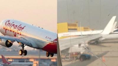 印度一客机机窗破裂后用胶带粘住继续飞