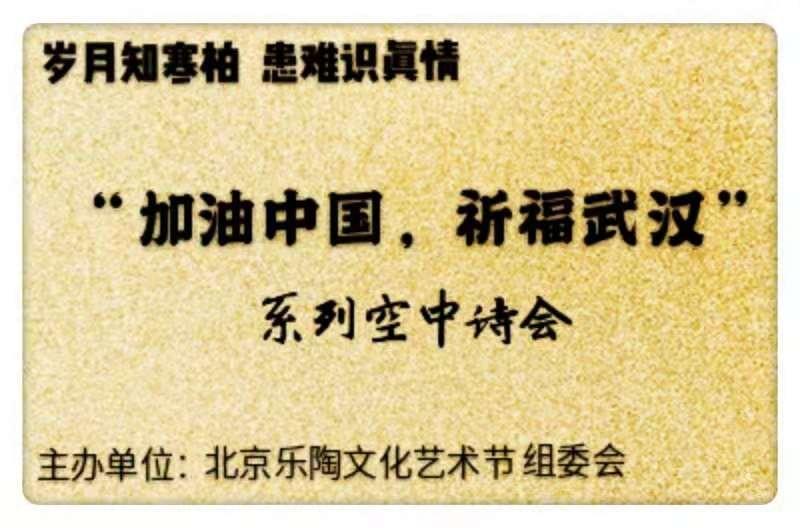 """""""加油中国,祈福武汉""""系列空中诗会为中国加油喝彩"""