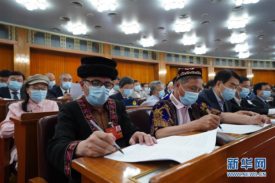 (两会·政协开幕·XHDW)(9)全国政协十三届三次会议在京开幕