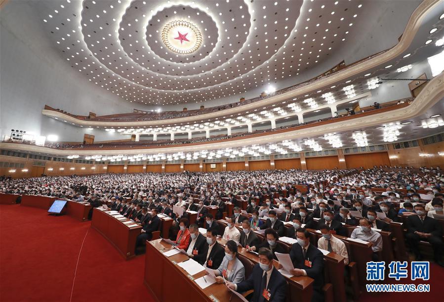 (两会·政协开幕·XHDW)(12)全国政协十三届三次会议在京开幕