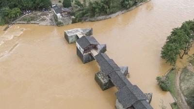 800年古桥被洪水损毁让人心痛