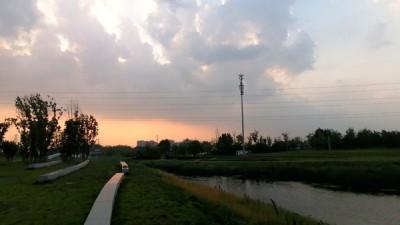 风起云涌萧后河——李月手机拍图