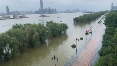 江苏南京河湖水位全面超警!长江南京水位超警戒水位1.23米