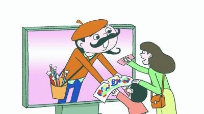 """少儿绘画比赛 淘宝有人代劳 """"私人订制""""一幅两三百 有店铺月销上千件"""
