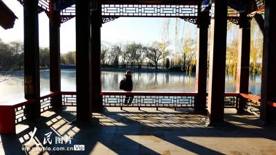北京颐和园冬日风景如画