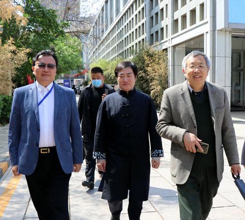 书画家王余根一行赴北京电影学院进行交流