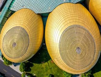 """郑州现5个外形科技感满满的""""大金蛋"""""""