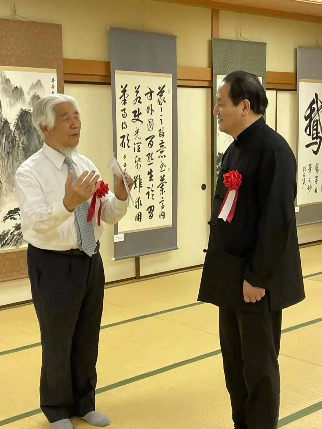 """""""笔精墨妙——刘铭义书画展""""在日本京都文化博物馆举行"""