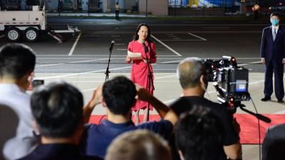 舆论高度关注孟晚舟回国:这是中国人民的一个重大胜利